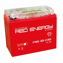 Red Energy RE 12-05, 5Ач, 85А (114x70x106) YTX5L-BS, YTZ7S, YT5L-BS
